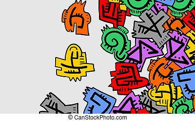 Color pieces card