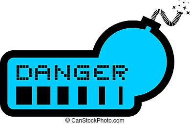 Blue danger - Creative design of blue danger