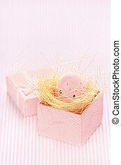 Pink Easter egg.