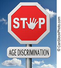 parada, edad, discriminación