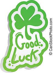 Good luck - Creative design of good luck