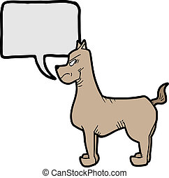 Dog talking - Creative design of dog talking