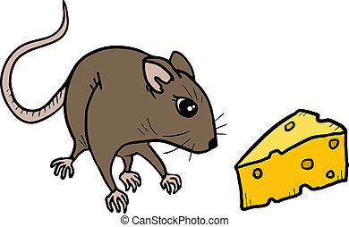Mouse and cheese - Creative design of mouse and cheese