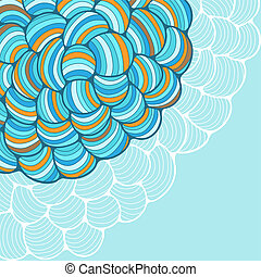 Seamless abstract wave hand-drawn pattern