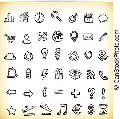 Handdrawn Icons - Set of 42 hand-drawn icon in different...