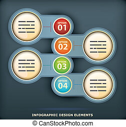 Infographic design element - Presentation template with four...