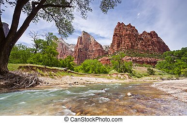 Zion National Park - Virgin River runs through Zion National...