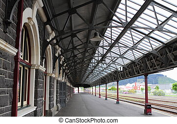 Dunedin Railway Station - Railroad station in Dunedin,...