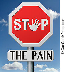 stop the pain - pain killer painkiller paracetamol aspirine...