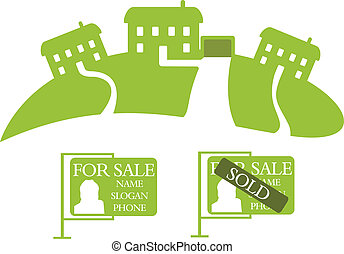 Three green houses for sale