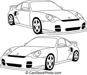 911 Porsche illustrated
