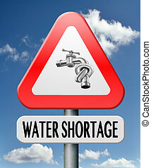 water shortage caused by drougth aridification and...