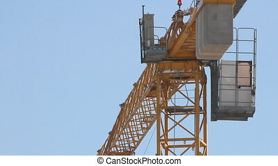 Lifting construction crane