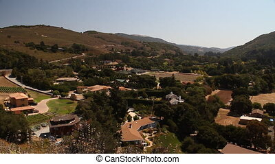 panning shot over Carmel Valley California