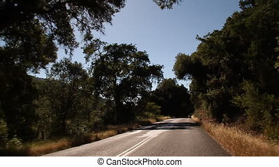 appeal be driving shot of Carmel Valley California