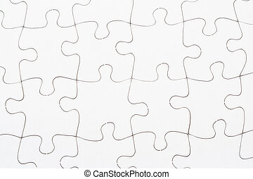 Jigsaw puzzle - White jigsaw puzzle background