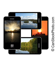 Modern phone of type ipad - The image of modern phone of...