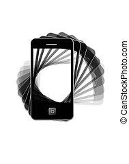 現代, 電話, タイプ, ipad