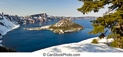Winter View of Crater Lake - A winter time view of crater...