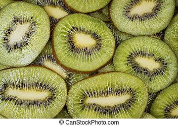fresh juicy sliced kiwi background