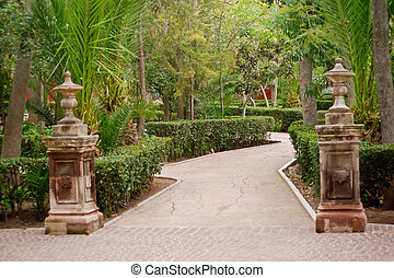 Colonial Mexico Park - Entrance to the park in San Miguel de...