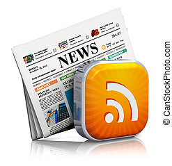 Internet news and RSS concept - Internet news and web RSS...