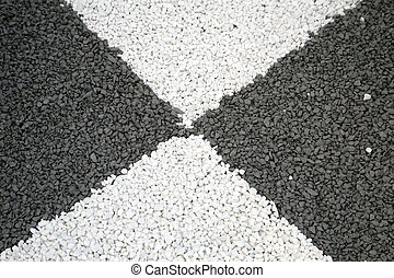 Black and white, texture of gravel