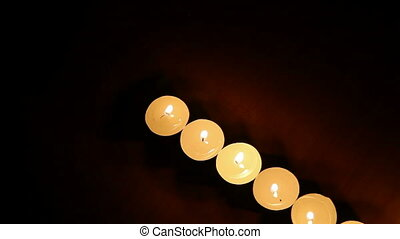 candles are lit