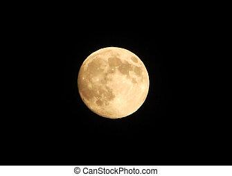 moon  full  in a black sky