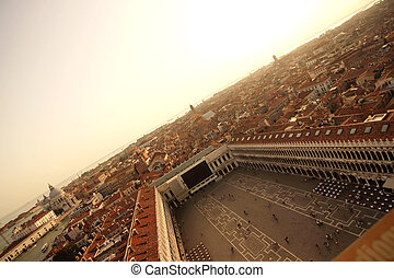 View over Venice, Italy, Europe.