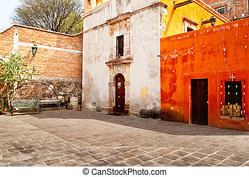 San Miguel de Allende - Colonial era buildings surround a...