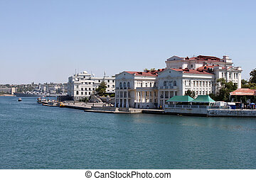 quay at bay of Sevastopol - view on quay at bay of...