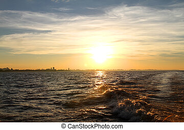 Sunset over the Rio de la Plata