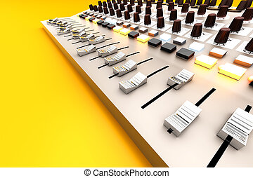 Mixing board - A Mixing board. 3D rendered illustration.