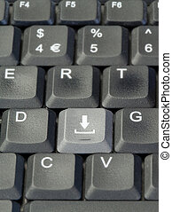Download button on keyboard