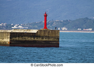 light house - red light house in Yehliu Bay,Taiwan