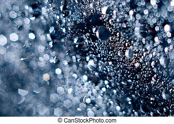 Magic abstract water with bubbles