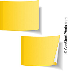 Yellow paper sticky notes
