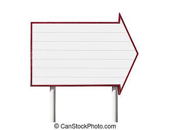 Giant Blank Arrow Sign