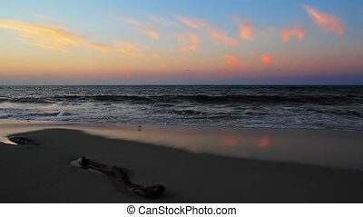 Beach Dawn Loop - Loop with a beautiful sunrise sky over...