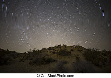 Mojave Desert North Star Night