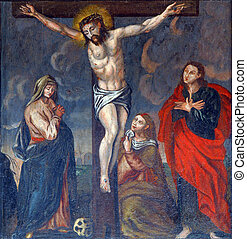 Crucifixion, Jesus on the cross