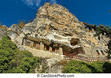 "The rock monastery St Dimitrii - The rock monastery ""St..."