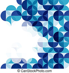 Blue modern geometrical abstract background - Blue circles...
