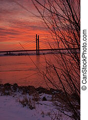 Sunrise at Molenbridge, Kampen, Net - This picture is taken...