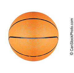 Orange basketball ball isolated on white background