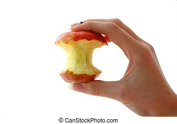 Half Eaten Apple - An Isolated image of a half eaten apple