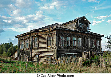 The old thrown rhouse - The old thrown rural house with the...