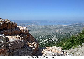 Cliff on mountain Velebit - Croatia