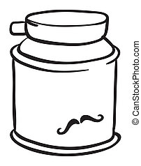 A can of shaving cream - Illustration of a shaving cream on...